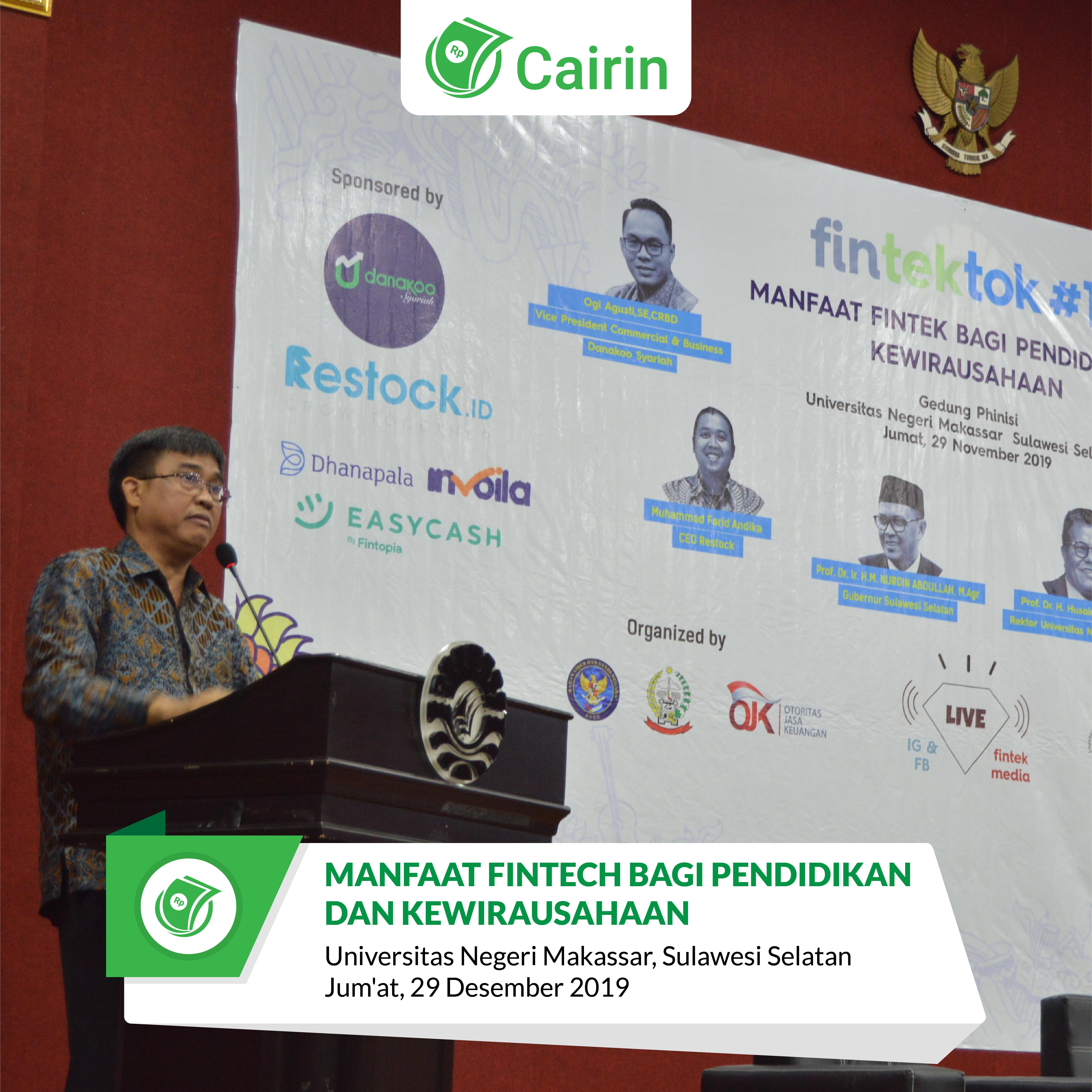 Seminar Manfaat Fintech Untuk Pendidikan dan Kewirausahaan