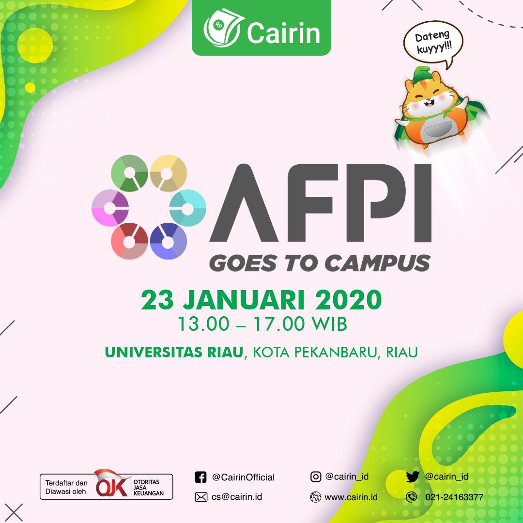 Cairin bersama AFPI Goes to Campus Ajak Mahasiswa Hadapi Revolusi Industri 4.0