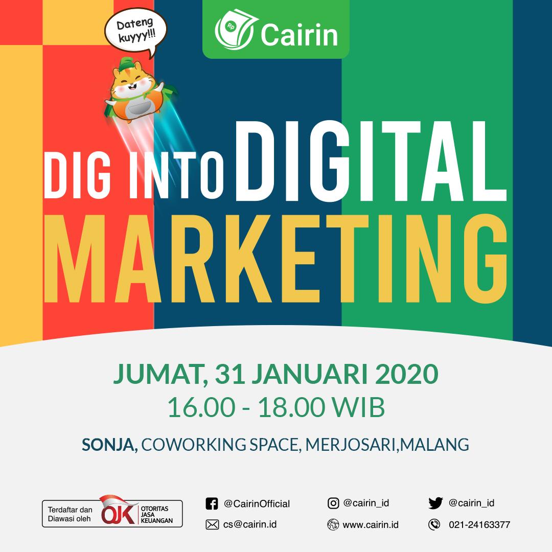 Sosialisasi Fintech dan Digital Marketing kepada Mahasiswa dan UMKM Malang